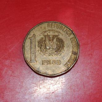 1 песо 1993 г Доминиканская республика