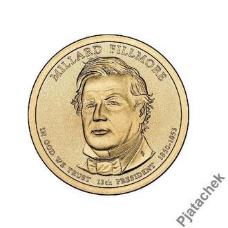 США  1 доллар 2010 г Миллард Филлмор 13-й президент
