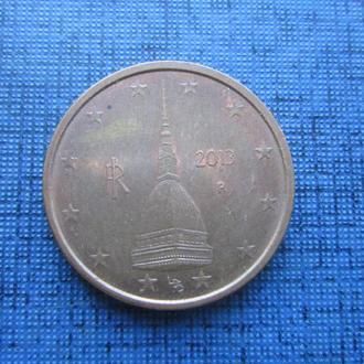 монета 2 евроцента Италия 2013
