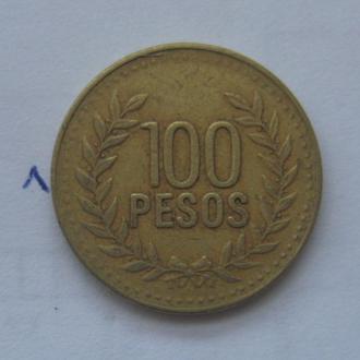 КОЛУМБИЯ, 100 песо 2007 года.