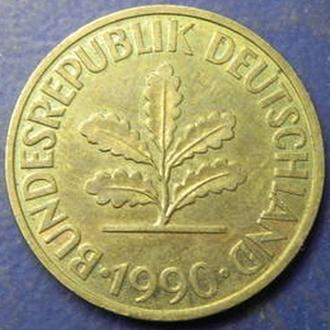 10 пфенінгів 1990 D ФРН