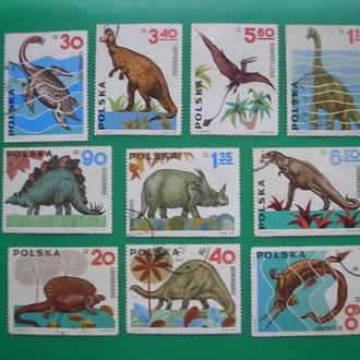 Польша 1965 Динозавры  Фауна * (Цвет)