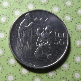 Сан-Марино 1972 год монета 50 лир