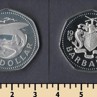 Барбадос 1 доллар 1973