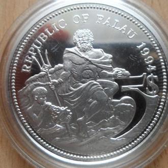 Палау 5 долларов 1994г