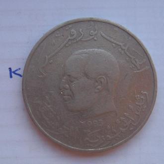 ТУНИС. 1 динар 1983 года (ПОРТРЕТ ПРЕЗИДЕНТА).