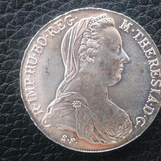 Таллер Мария Терезия (Рейстрайк) 1780 год.Серебро .Вес 28.2 грм..