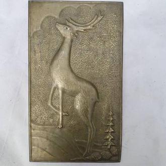 Красивая Картина - чеканка олень