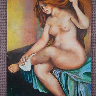 Автор неизвестный ,,Женщина, Ню,, Холст, масло. Размеры 112х80 см.