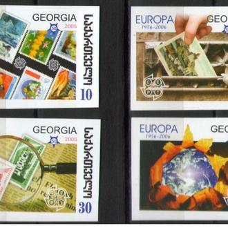 Грузия 2006 ** Европа EUROPA CEPT марки на марках серия бз MNH