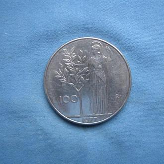 Италия 100 лир 1977 год