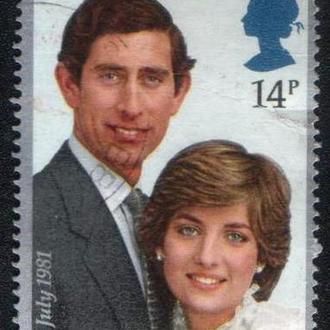 Великобритания (1981) Свадьба Принца Чарльза и Дианы Спенсер
