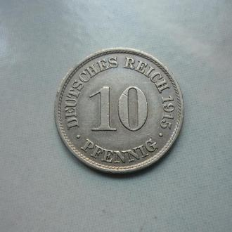 Германия 10 пфеннигов 1915 A