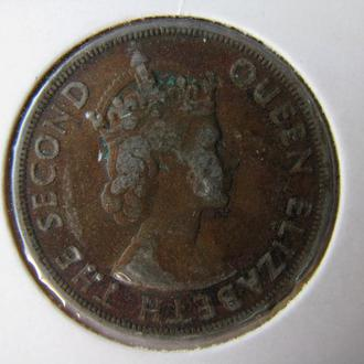 Карибские территории 2 цента 1955