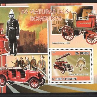 С.Томе 2008 ** Транспорт Пожарные машины БЛ MNH