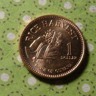 Гайана 2008 год монета 1 доллар !