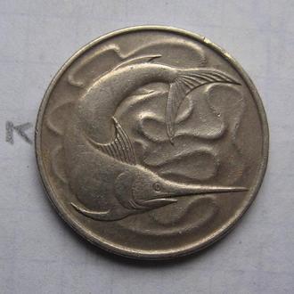 СИНГАПУР 20 центов 1968 г. (РЫБА).