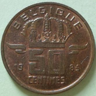 (А) Бельгия 50 сантимов, 1985 'BELGIQUE'