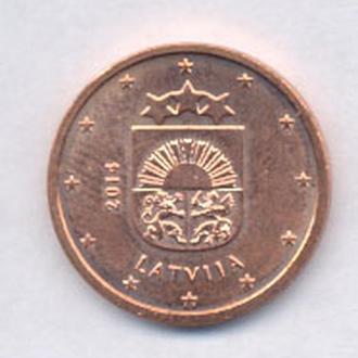 Монеты Латвия 2 ЕВРОЦЕНТА 2014 г