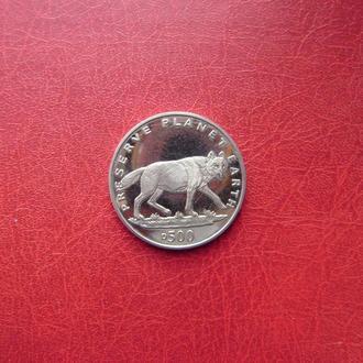 Босния и Герцеговина 500 динаров 1994 Волк. UNC.
