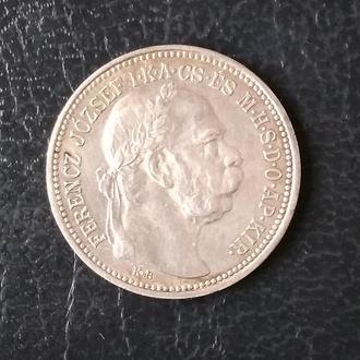 1 крона 1914 Венгрия — серебро, оригинал