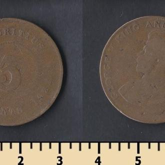 Маврикий 5 центов 1922