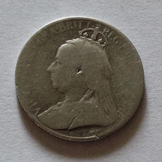 9 пиастров, 1901 г, Британский Кипр, редкая, серебро