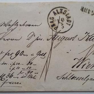 Конверт Австрия 1860 г