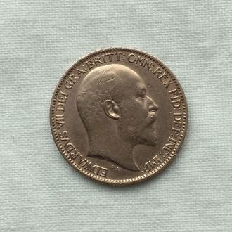 1 фартинг  - 1906 год