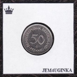 Германия. 50 пфенингов 1990 г.(G)  XF
