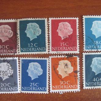 Нидерланды 1953-67 Юлиана    стандарты ГАШ
