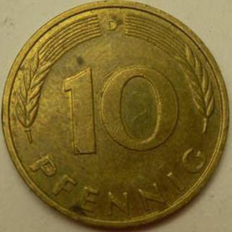 10 пфенінгів 1987 D ФРН