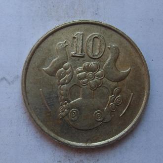 КИПР. 10 центов 1988 года.