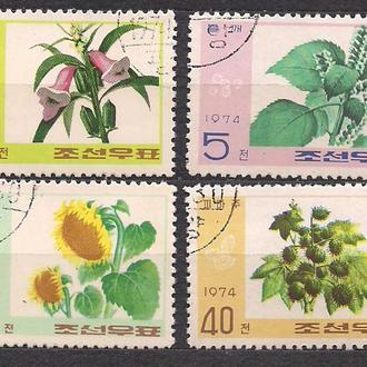 КНДР,1974г., флора, цветы