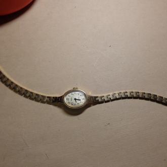 Часы Чайка, позолота Au с браслетом, CССР