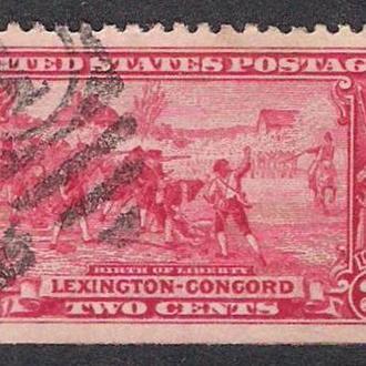 1925 год. 2 cents. Лексингтон-Конкорд.