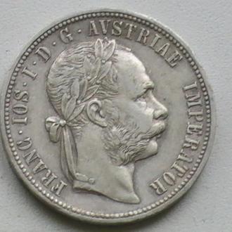1 Флорін 1881 р Срібло Австрія 1 Флорин 1881 г Серебро Австрия 1 Гульден
