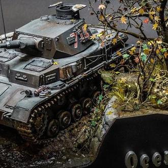 """Масштабная модель танка(диорама) """"Осенью 39"""""""