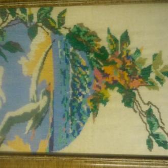 Продам старую картину вышытая крестиком