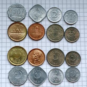 Пакистан, набор современных монет, 8 шт