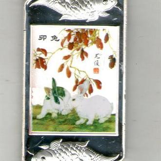 Сувенирная монета год кролика Китай никель пруф П45
