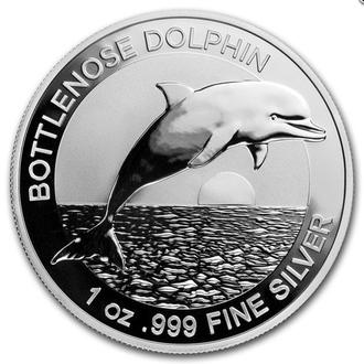 2019 Австралия Дельфин серебро 1 унция КАПСУЛА Первая монета в серии.