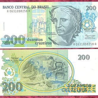 Боны Америка Бразилия 200 крузейро 1990 г.