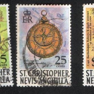 Сент-Кристофер - Невис - Ангилья (1970) Брит. колония. История