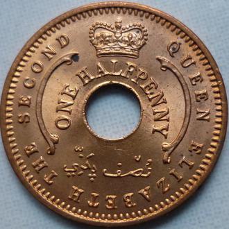 Нигерия 1/2 пенни 1959 состояние