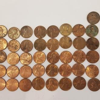 Монеты номиналов в 1 цент США