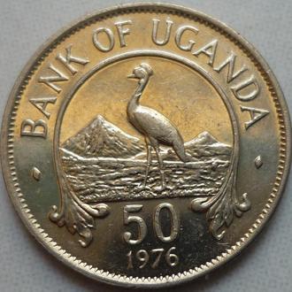 Уганда 50 центов 1976 фауна состояние