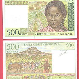 Боны Африка Мадагаскар 500 франков 1994 г.