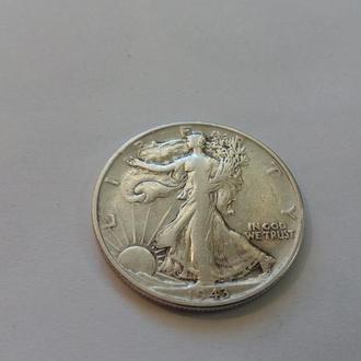 США 1/2 пол доллара 1943 год. Серебро. (2-6) Еще 100 лотов!