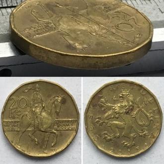 Чехия 20 крон, 2015г. период Чешская Республика (1993 - 2018)